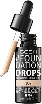 Gosh Foundation Drops - SPF 10 - Фон дьо тен с лека текстура -