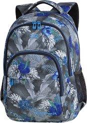 Ученическа раница - Basic Plus: Blue Hibiscus - раница