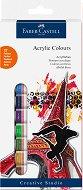 Акрилни бои - Комплект от 12 цвята x 12 ml