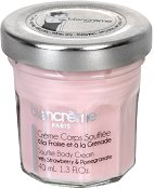Blancreme Souffle Body Cream With Strawberry & Pomegranate - Крем за тяло с ягода и нар в стъклено бурканче - пудра