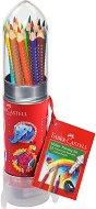 Цветни моливи - Комплект от 15 цвята и острилка в метална кутия
