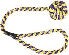 Плетено въже с топка - Плаваща играчка за кучета -