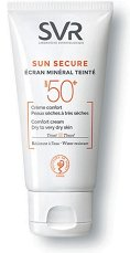 """SVR Sun Secure Tinted Comfort Cream - SPF 50+ - Тониращ слънцезащитен крем за лице за суха към много суха кожа от серията """"Sun Secure"""" - продукт"""