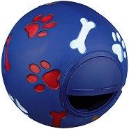 Топка с отвор за лакомства - Стратегическа играчка за кучета -
