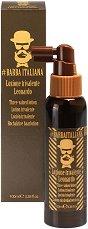 Barba Italiana Three-Valued Lotion - Leonardo - Лосион за мъже против косопад, пърхот и омазняване - сапун