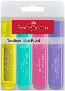 Текст маркер със скосен връх - Пастел 1546 - Комплект от 4 цвята