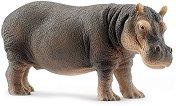 """Хипопотам - Фигура от серията """"Животни от дивия свят"""" - играчка"""