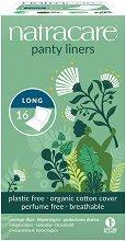 Natracare Cotton Panty Liners Long - Индивидуално опаковани дълги ежедневни дамски превръзки в опаковка от 16 броя -