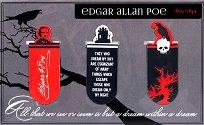 Мини магнитни разделители за книга - Едгар Алан По - Комплект от 3 броя -