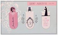 Мини магнитни разделители за книга - Джейн Остин - Комплект от 3 броя -