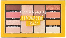 Maybelline Lemonade Craze Eyeshadow Palette Makeup - Палитра сенки за очи - четка