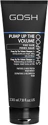 """Gosh Pump Up The Volume Shampoo - Шампоан за обем за тънка коса от серията """"Pump Up The Volume"""" - крем"""