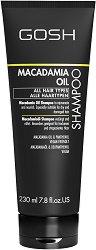 "Gosh Macadamia Oil Shampoo - Шампоан с масло от макадамия за всеки тип коса от серията ""Macadamia Oil"" - шампоан"