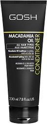 """Gosh Macadamia Oil Conditioner - Балсам с масло от макадамия за всеки тип коса от серията """"Macadamia Oil"""" - дезодорант"""