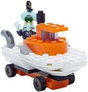 """Състезателната кола на Сепия - Детски конструктор от серията """"SpongeBob"""" - играчка"""