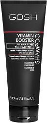 """Gosh Vitamin Booster Shampoo - Шампоан с витамини за всеки тип коса от серията """"Vitamin Booster"""" - крем"""