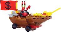 """Състезателната кола на г-н Рак - Детски конструктор от серията """"SpongeBob"""" - играчка"""