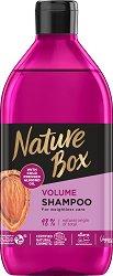 Nature Box Almond Oil Shampoo - Шампоан за обем с масло от бадем - маска