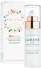 """Lumene Sisu Recover & Protect Facial Oil - Възстановяващо защитно олио за лице от серията """"Sisu"""" -"""