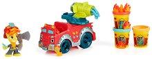 Пожарна кола - Творчески комплект с моделин и аксесоари -