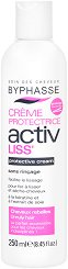 Byphasse Activ Liss Protective Cream For Unruly Hair - Предпазващ крем за изправяне на непокорна коса - четка