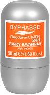 Byphasse Men Funky Savannah Antiprespirant Roll-on - Мъжки ролон против изпотяване -