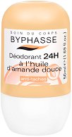 Byphasse Deodorant Sweet Almond Oil - Ролон против изпотяване с бадемово масло -