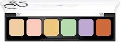 Golden Rose Correct & Conceal Camouflage Cream Palette - Палитра кремообразни коректори за лице - продукт