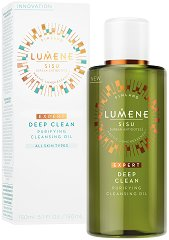 "Lumene Sisu Deep Clean Purifying Cleansing Oil - Почистващо олио за лице от серията ""Sisu"" - червило"
