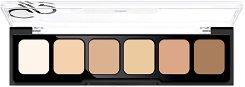 Golden Rose Correct & Conceal Cream Palette - Палитра кремообразни коректори и пудра за лице -