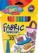 Маркери за текстил - Комплект от 10 цвята