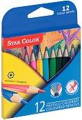Къси цветни моливи - Комплект от 12 цвята