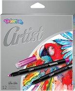 Цветни тънкописци - Artist - Комплект от 12 цвята