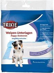 Trixie Nappy Puppy Pad with Lavender Fragrance - Хигиенни постелки за кучета с аромат на лавандула - опаковка от 7 броя с размери 40 x 60 cm - продукт
