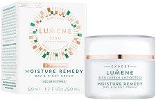 """Lumene Sisu Moisture Remedy Day & Night Cream - Хидратиращ дневен и нощен крем за лице 2 в 1 от серията """"Sisu"""" -"""