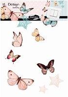 Стикери за декорация - Пеперуди - Размери 15 x 24 cm
