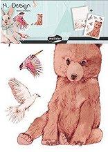 Стикери за декорация - Мече и зайче  - Комплект от 2 листа с размери 35 х 25 cm