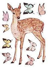 Стикери за декорация - Животни  - Комплект от 2 листа с размери 35 х 25 cm
