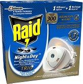 Електрическо устройство срещу комари, мухи и мравки - Ден и Нощ - Комплект с изпарител и пълнител