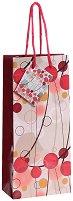 Торбичка за подарък - Червени кръгчета - Размери 10 x 22 cm - творчески комплект