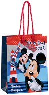 Торбичка за подарък - Мики Маус - Размери 11 x 14 cm - количка