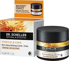 Dr. Scheller Thistle & Chia Rich Nourishing Day Care - Дневен крем за лице за много суха кожа с магарешки трън и чиа - крем