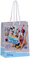 Торбичка за подарък - Мики и Мини Маус - Размери 11 x 14 cm -