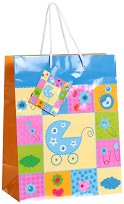 Торбичка за подарък - Бебешка количка - Размери 17.5 x 23 cm -