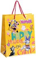 Торбичка за подарък - Мини Маус и Дейзи - Размери 17.5 x 22.5 cm - гърне