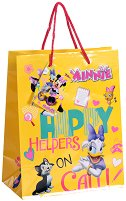 Торбичка за подарък - Мини Маус и Дейзи - Размери 17.5 x 22.5 cm - количка