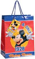 Торбичка за подарък - Мики Маус - Размери 17.5 x 22.5 cm - пъзел