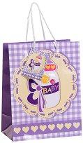 Торбичка за подарък - Бебе - Размери 17.5 x 23 cm - фигура