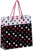 Торбичка за подарък на точици - Размери 17 x 17 cm -