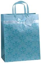 Торбичка за подарък с орнаменти - Размери 27 x 30 cm - играчка